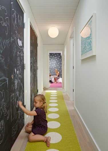 12 id es d co pour styliser un couloir long troit ou sombre - Modele de peinture pour couloir ...