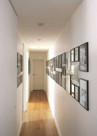 12 id es d co pour styliser un couloir long troit ou sombre - Amenagement couloir etroit ...