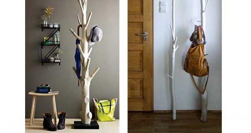 Fabriquer un porte manteaux original en bois flott - A quelle hauteur fixer un porte manteau ...