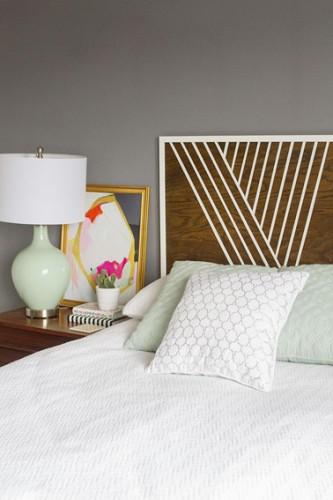 Fabriquer une t te de lit originale en bois - Fabriquer une tete de lit en palette ...