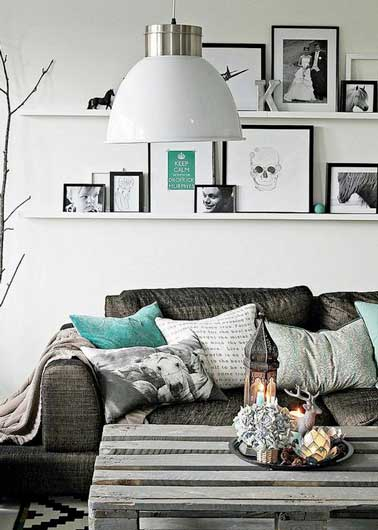 diy d co comment accrocher des photos avec style. Black Bedroom Furniture Sets. Home Design Ideas
