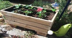 Faire une jardinière en palette bois, tout comme on fait un meuble ou salon de jardin en palette voilà une idée de DIY pour une déco de jardin ou terrasse tendance récup sympa et pas cher