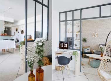 Une verri re atelier construite pour 400 deco cool - Cuisine avec verriere atelier ...
