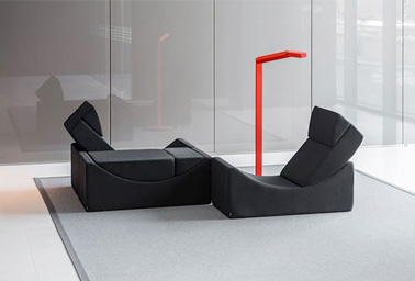 canap modulable noir lina ultra confortable et design. Black Bedroom Furniture Sets. Home Design Ideas