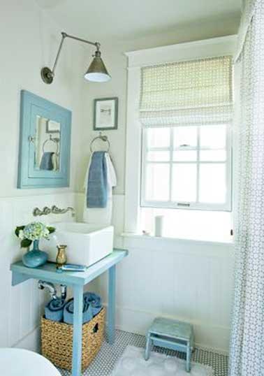 10 rangements salle de bain pour un gain de place maxi - Salle de bain deco mer ...