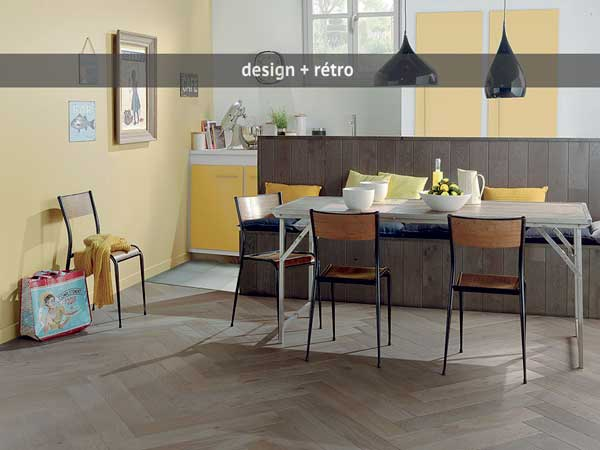 perfect parquet contrecoll pour cuisine rtro with parquet cuisine ouverte. Black Bedroom Furniture Sets. Home Design Ideas