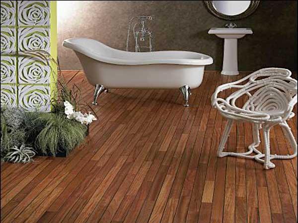 Un parquet dans la salle de bains c 39 est possible deco cool for Salle de bain exotique