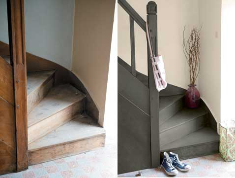 Peinture escalier photo avant apr s for Relooking interieur avant apres