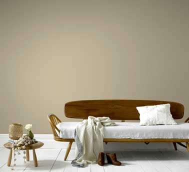 peinture salon style pur avec une couleur beige. Black Bedroom Furniture Sets. Home Design Ideas