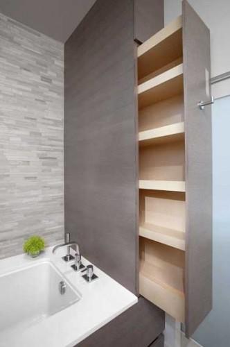 Porte coulissante astuce gain de place deco salon cuisine - Refaire sa salle de bain soi meme ...