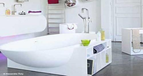 Rangement salle de bain des astuces gain de place adopter - Meuble gain de place salle de bain ...