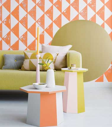 Peinture relooker ses meubles pour pas cher for Peinture graphique salon