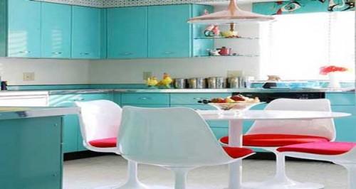 Repeindre des meubles de cuisine avec des couleurs d co - Repeindre ses meubles de cuisine en bois ...