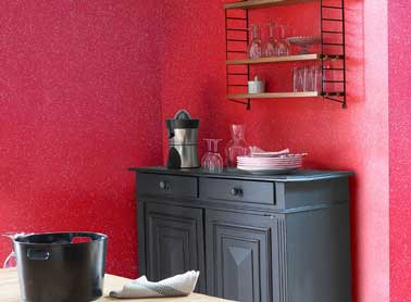 r veiller la peinture de la cuisine avec des paillettes. Black Bedroom Furniture Sets. Home Design Ideas