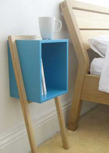 Table de nuit design en d co r cup dans une chambre for Table de nuit scandinave