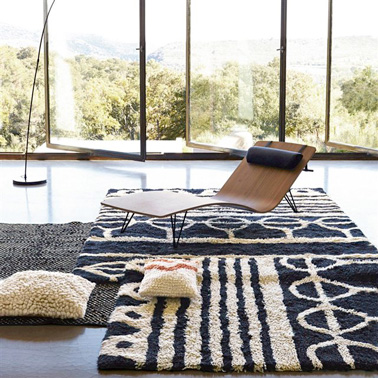 tapis en laine style berb re am pm en solde chez la redoute. Black Bedroom Furniture Sets. Home Design Ideas