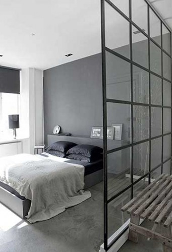 am nager un dressing derri re une verri re int rieure. Black Bedroom Furniture Sets. Home Design Ideas