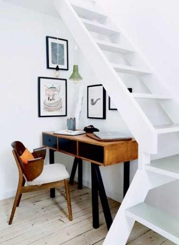 Am nager un espace bureau scandinave dessous l escalier for Amenagement bureau petit espace