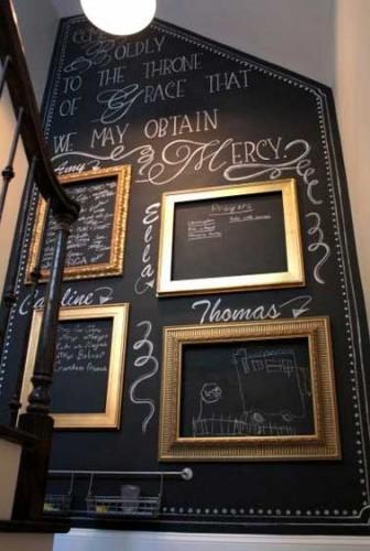 Animer une cage d escalier avec une peinture tableau noir for Tableau pour cage escalier