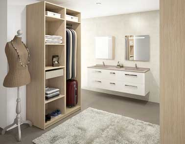 armoire dressing ouvert dans chambre parentale. Black Bedroom Furniture Sets. Home Design Ideas