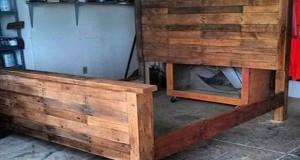34 id es de lit en palette bois a faire pour la chambre - Fabriquer un lit en bois plan ...