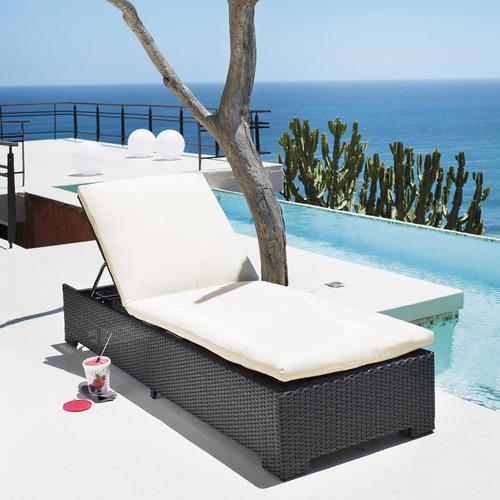 Pour un jardin élégant et design, misez sur un bain de soleil tressé noir qui donnera à coup sûr du charisme à votre extérieur. Un produit alliant confort et design pour un jardin à la déco renversante