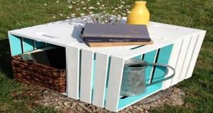 Une caisse en bois transformée enconsole, chevet ou petite table c'est pas cher ! Voici des idées de déco récup pour fabriquer un meuble de rangementpratique avec des caisses en bois