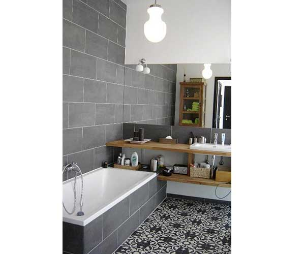 Stunning Salle De Bain Carreau Ciment Sol Ideas - House Design ...