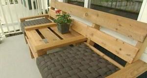 Faire un salon de jardin en palette deco cool for Canape en palette avec dossier