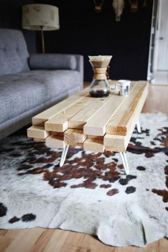 Comment Fabriquer Une Table Basse En Bois Soi M Me