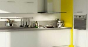 Cuisine blanche 20 id es d co pour s 39 inspirer deco cool - Cuisine blanche et jaune ...
