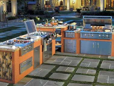 cuisine d exterieur avec barbecue. Black Bedroom Furniture Sets. Home Design Ideas