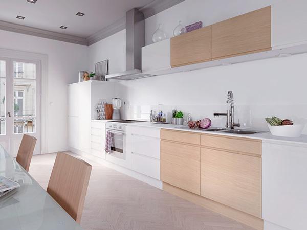 Le top d co des nouvelles cuisines castorama - Cuisine blanche bois ...