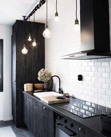 carrelage cuisine mur blanc