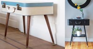 Fabriquer une petite table originale avec une valise de récup