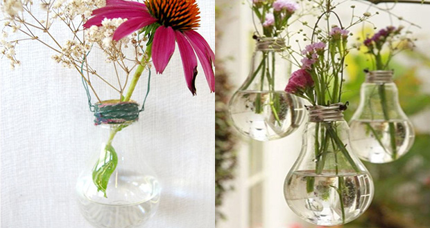Diy d co fabriquer un vase avec une ampoule de r cup for Vase deco pas cher