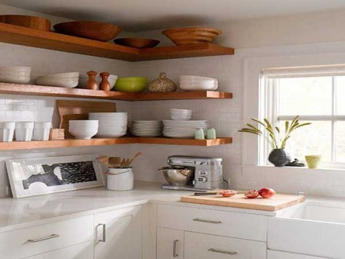 Etagere d angle pour rangement cuisine pratique Ustensiles cuisine deco pratiques