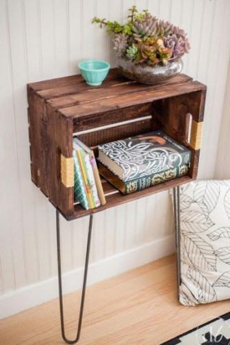 Faire un meuble tendance avec une caisse en bois - Fabriquer son meuble de cuisine ...