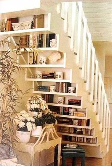 am nager un petit espace sous escalier sympa. Black Bedroom Furniture Sets. Home Design Ideas