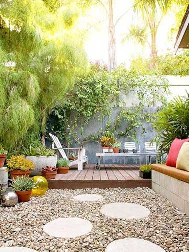 10 id es d am nagement terrasse inspirantes for Inexpensive patio decorating ideas