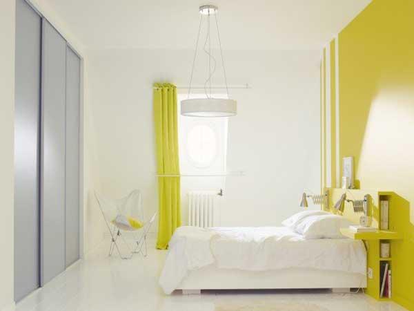 Peinture chambre 20 couleurs d co pour repeindre ses murs - Chambre jaune blanc ...