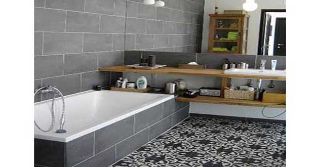 les carreaux de ciment en d co salle de bain c 39 est tendance. Black Bedroom Furniture Sets. Home Design Ideas