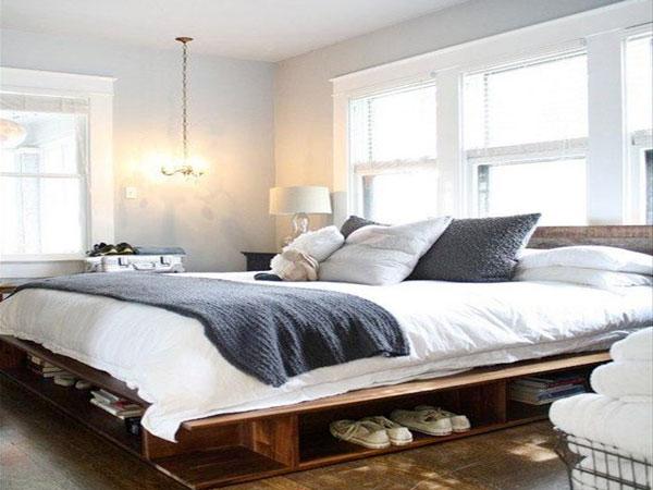 34 id es de lit en palette bois a faire pour la chambre for Lit avec palette en bois