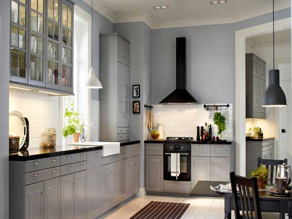 cuisine meubles gris simple cool cuisine meubles gris meuble cuisine en l conception de maison. Black Bedroom Furniture Sets. Home Design Ideas