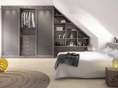 mix dressing sous pente biblioth que dans chambre design. Black Bedroom Furniture Sets. Home Design Ideas