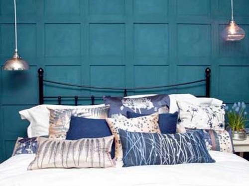 Chambre Bleu Canard : Peinture chambre bleu canard pour faire la tete de lit