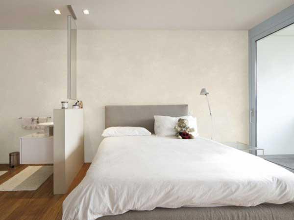 Peinture chambre parentale creme tete de lit taupe for Peinture mur de chambre