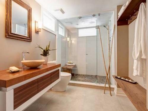Salle De Bain Ardoise Et Bambou : Une salle de bain ambiance zen et ...