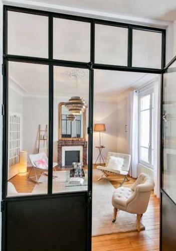 S parer et moderniser un salon avec une verri re int rieure - Separer entree et salon ...