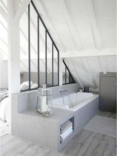 Verri re int rieure pour s parer la salle de bain d une for Verriere pour salle de bain